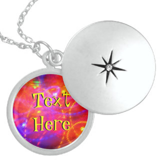 Text Here On Colorful Abstract Pendants