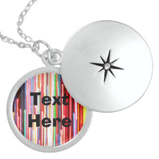 Text Here on Colorful Abstract Necklace