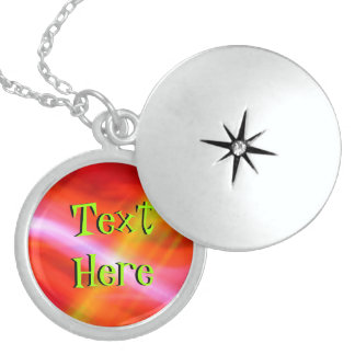 Text Here On Orange Yellow Abstract Jewelry