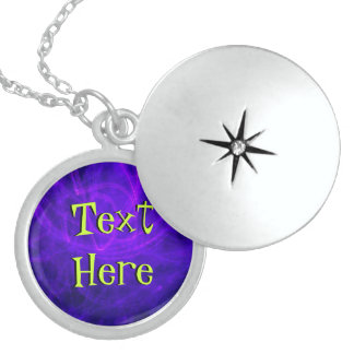 Text Here On Purple Personalized Necklace