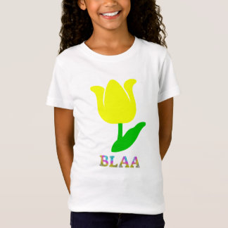 Text in Manx: blaa and yellow flower T-Shirt