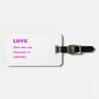 Text: LOVE Romance Pure Hearts HOT lowprice GIFTS Bag Tag