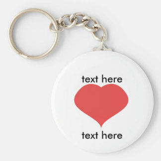 text LOVE text Basic Round Button Key Ring
