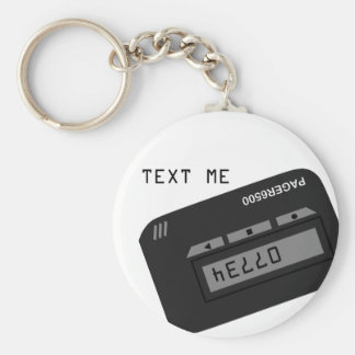 Text Me Basic Round Button Key Ring