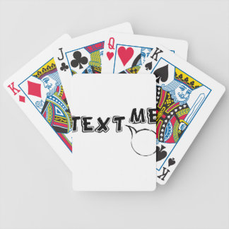 TEXT ME HI BICYCLE PLAYING CARDS