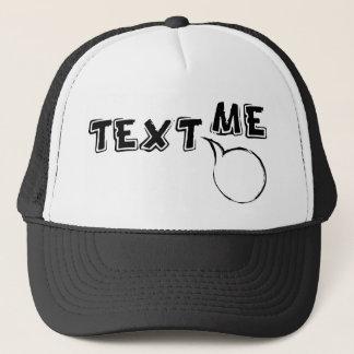 TEXT ME HI TRUCKER HAT
