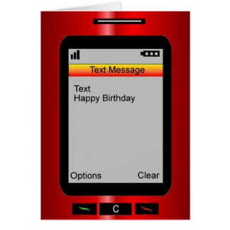 Text Message Happy Birthday Card