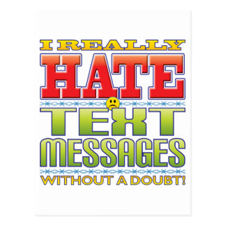 Text Messages Hate Face Post Cards