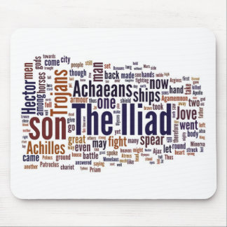 Text of The Iliad by Homer Mouse Pad