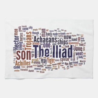 Text of The Iliad by Homer Tea Towel