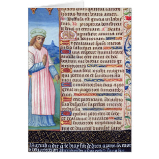 Text of the Magnificat with a portrait of Card