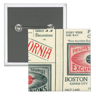 Text Page of Phillips Tourist Excursions 15 Cm Square Badge