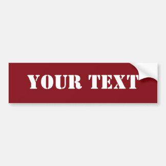 Text Template Bumper Sticker Raglan Red