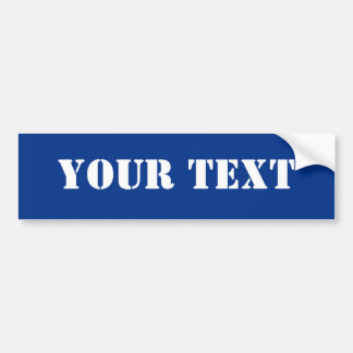 Text Template Bumper Sticker Royal Blue