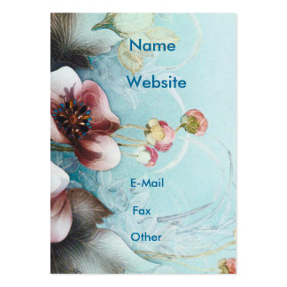 Textile Designs Pink  Flowers Pack Of Chubby Business Cards