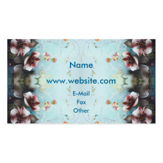 Textile Designs Pink  Flowers Pack Of Standard Business Cards