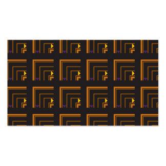 textile lines black business card template