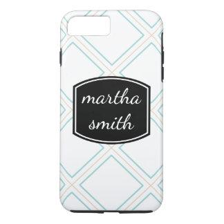 Textile Pattern / Personalized Text iPhone 8 Plus/7 Plus Case