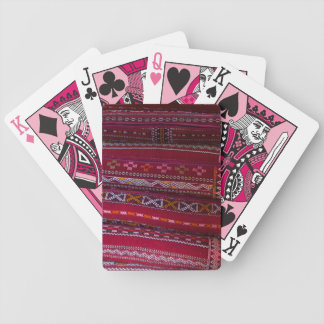 Textile Pillow Patterns Bicycle Playing Cards