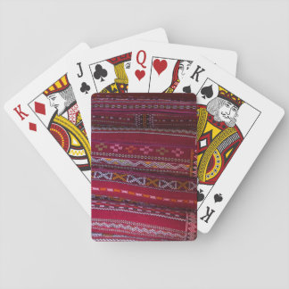 Textile Pillow Patterns Playing Cards