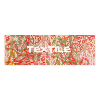 Textile Red Green/Pale pink Oblong Card Pack Of Skinny Business Cards