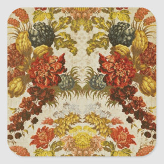 Textile with a repeating floral pattern sticker