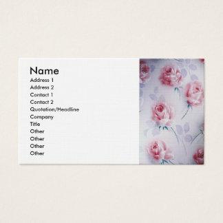 Textiles Beautiful Pink Roses Business Card