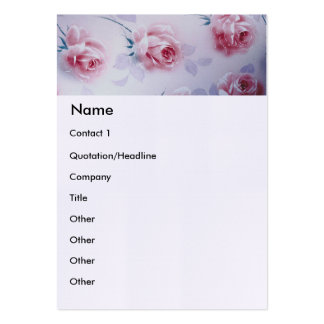 Textiles Beautiful Pink Roses Pack Of Chubby Business Cards