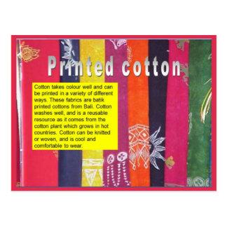 Textiles, Fashion, Printed Cotton Postcard