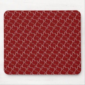 TexTiles Maroon Texas Tesselation Mouspad Mouse Pad