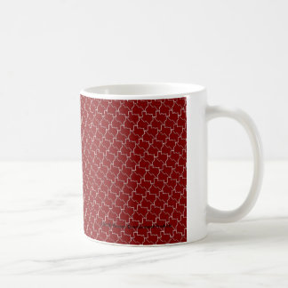 TexTiles Maroon Texas Tessellation Mug