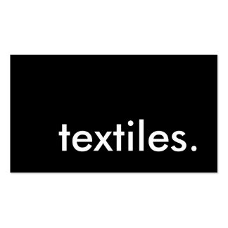 textiles. pack of standard business cards