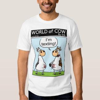 Texting Cows Shirts