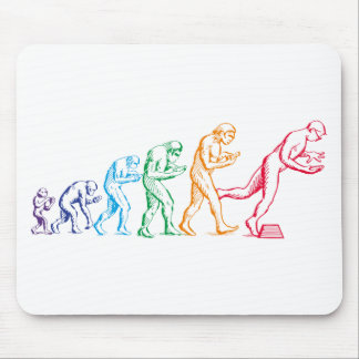 Texting Evolution colors Mousepads