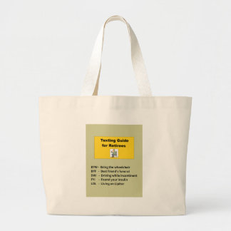 Texting Guide for Retiree Large Tote Bag