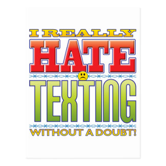 Texting Hate Face Postcard