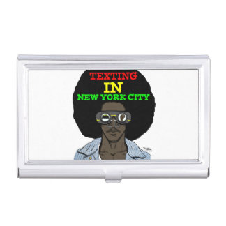 Texting In New York City Business Card Holder