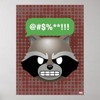 Texting Rocket Emoji Poster