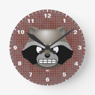 Texting Rocket Emoji Round Clock