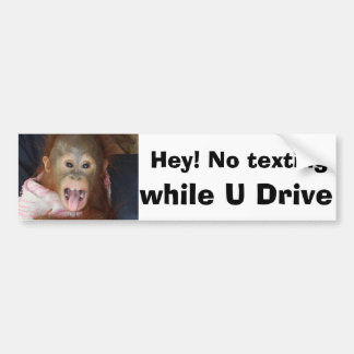 Texting While Driving Warning Sign Bumper Sticker