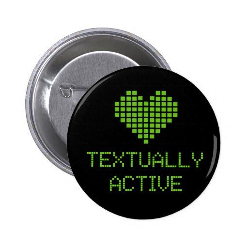 Textually Active - button