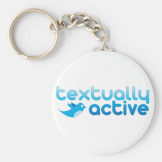 Textually Active on Twitter Texting Trendy Key Ring