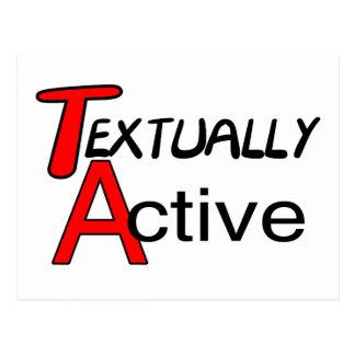 Textually Active Postcard