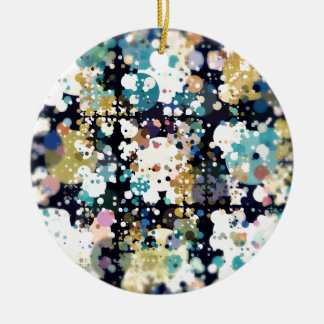 Textural Circles Abstract Round Ceramic Decoration