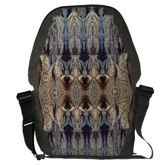 Textural designer abstract lifestyle commuter bag