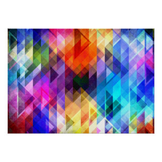 Textural Geometry of Color Poster