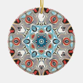 Textural Kaleidoscope Abstract Ceramic Ornament