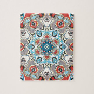 Textural Kaleidoscope Abstract Jigsaw Puzzle