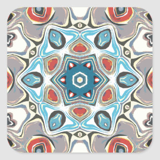Textural Kaleidoscope Abstract Square Sticker