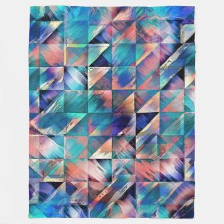 Textural Reflections of Turquoise Fleece Blanket